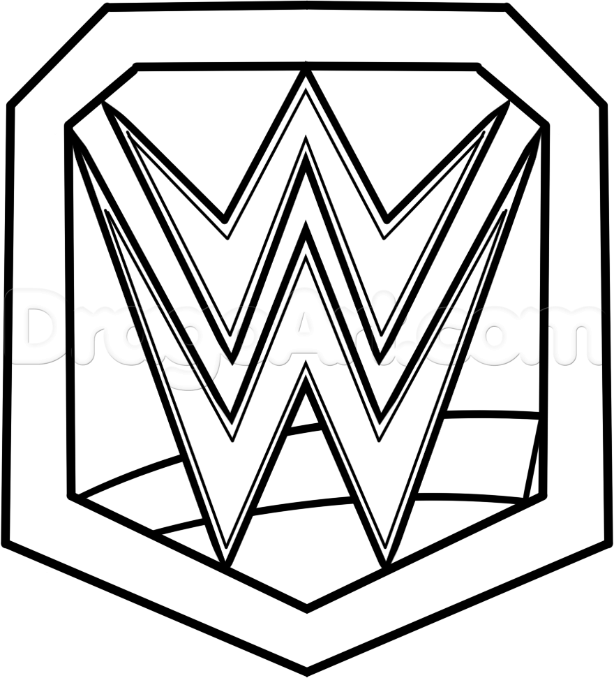 Wwe Ch Ionship Belt Coloring Pages Cakepins Birthday Cakes