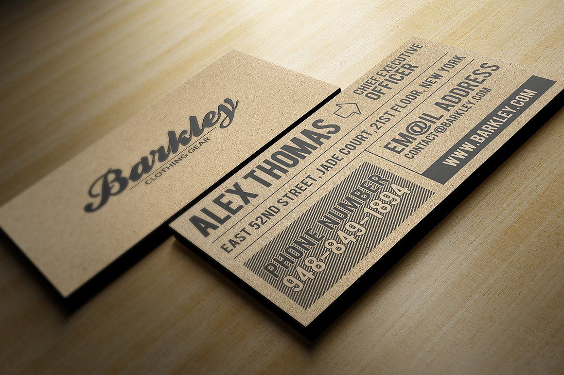 Kraft Paper Business Card by Marvel on @creativemarket | BUSSINES ...
