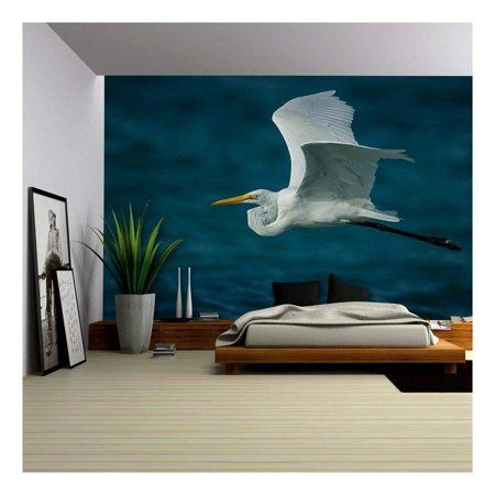 wall26 Flying Bird over the Lake Removable Wall Mural