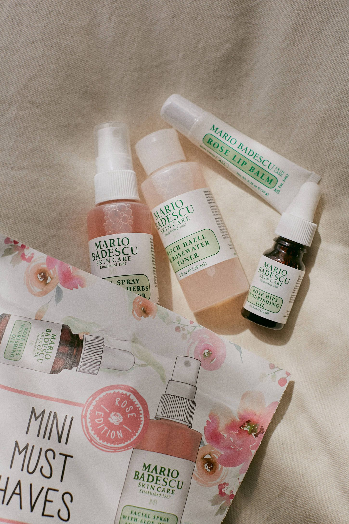 Mario Badescu Mini Must Haves Set Rose Edition In 2020 Rose Scented Products Mario Badescu Rose Lip Balm