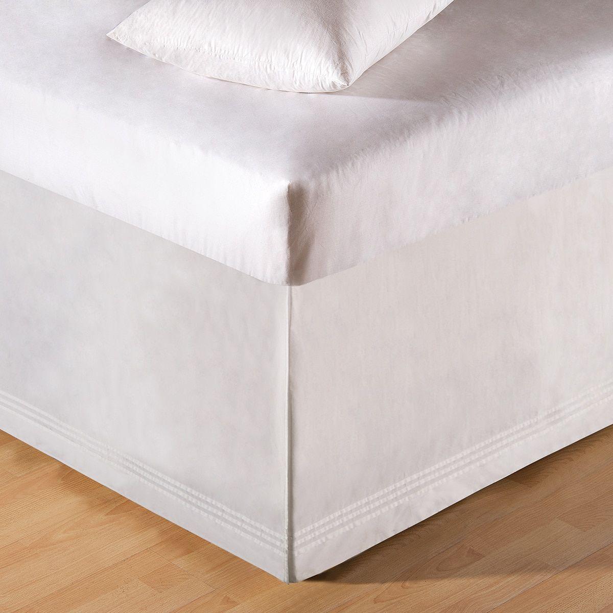 White Tailored Bed Skirt (King) White bed skirt, White