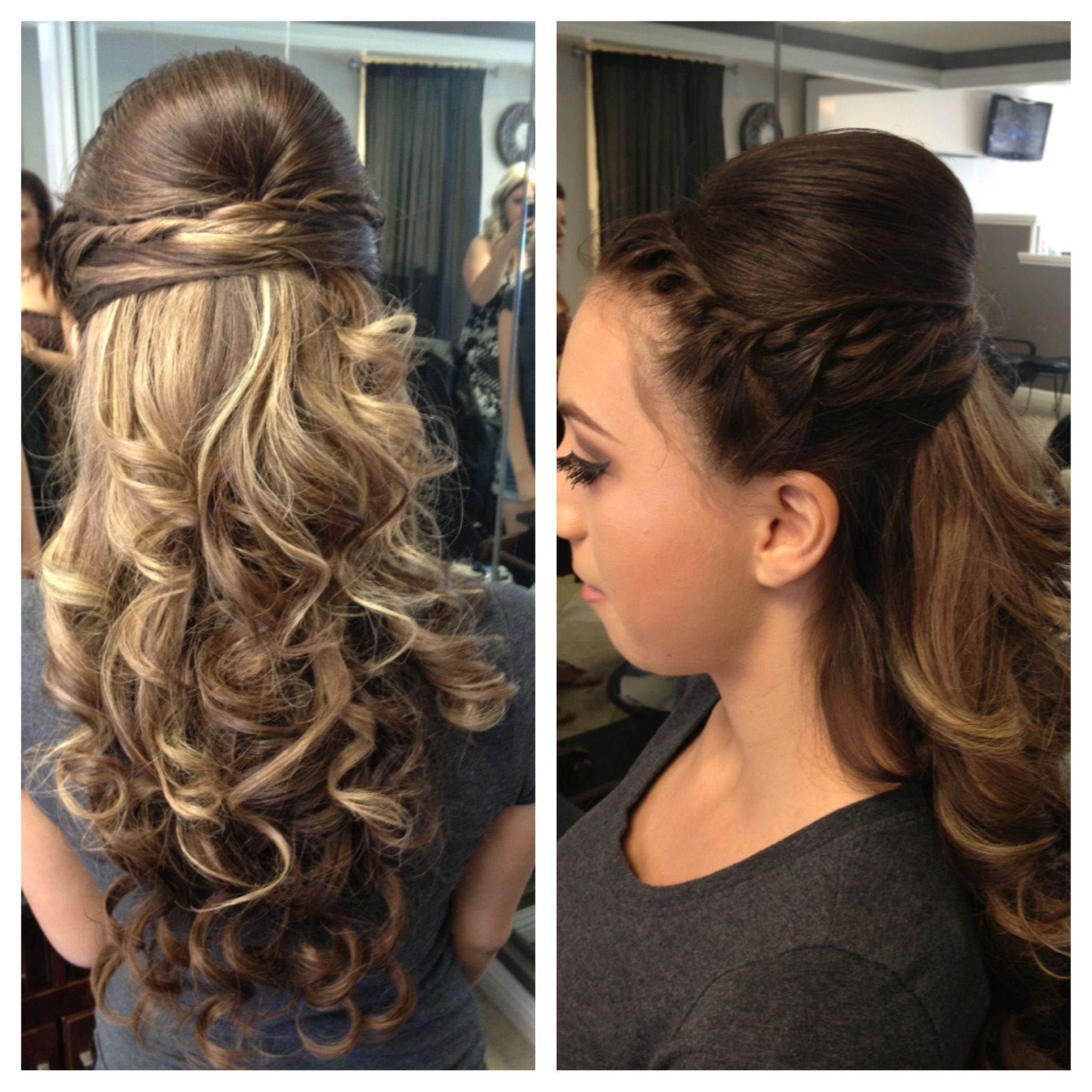 My Curly Half Up Do Hair Style For Prom Hair Prom Hair