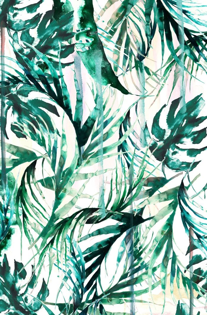 Green Tropical Paradise Art Print By Nikkistrange Nature Art