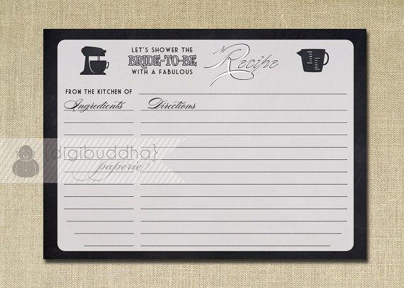 fill in recipe cards
