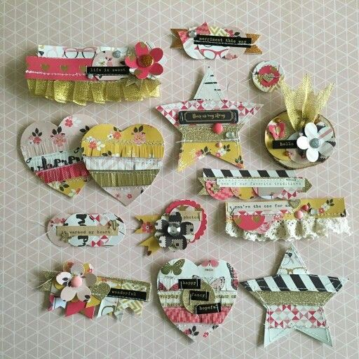 "Ideas for DIY embellishments made out of ""scraps""."