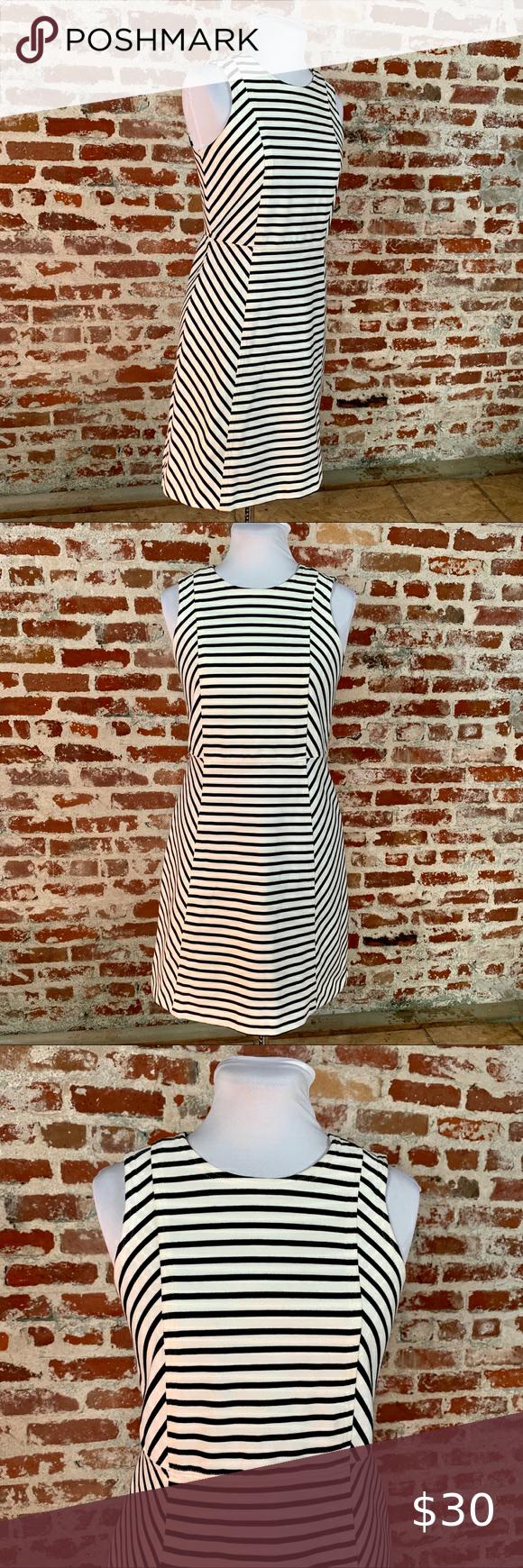 Thick Knit Black And White Chevron Stripe Dress 2p In 2021 Striped Knit Dress White Cocktail Dress Teal Green Dress [ 1740 x 580 Pixel ]