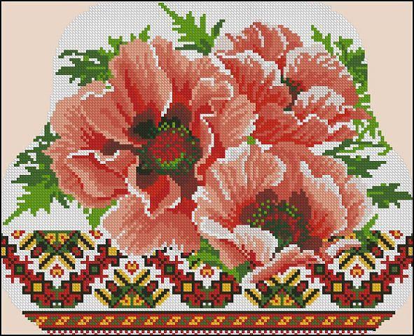 7 Zhivushaya Cross Stitch Flowers Floral Cross Stitch Cross Stitch Designs