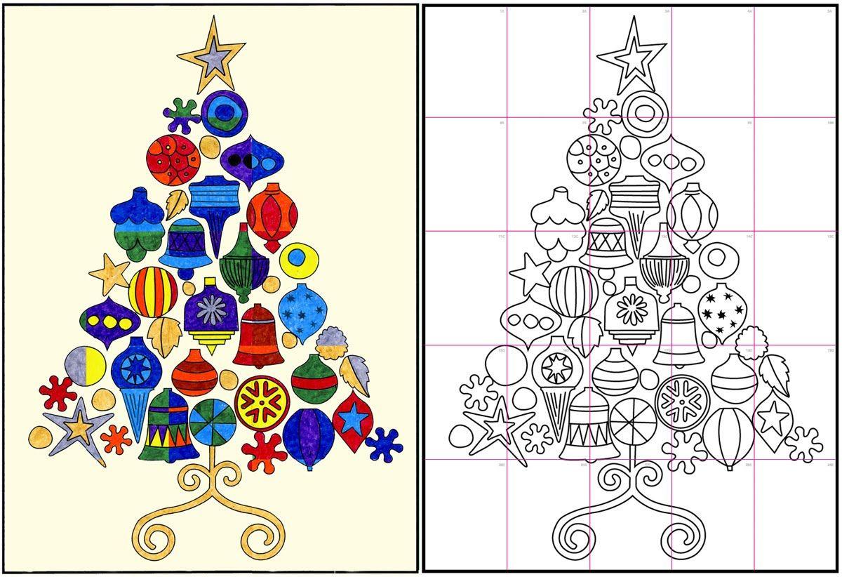Christmas Tree -artist Andy Warhol Style