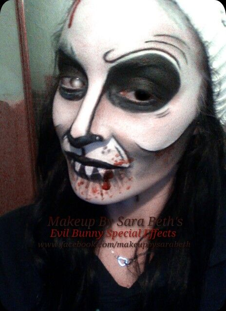 Scary bloody evil bunny Halloween makeup by sarabeth | Makeup ...