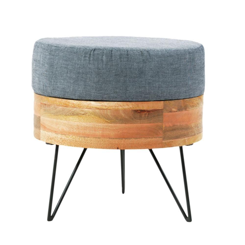 mid century modern ottoman w hairpin legs ottoman pouf bench pinterest modern ottoman. Black Bedroom Furniture Sets. Home Design Ideas