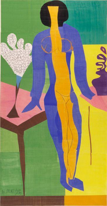 Henri Matisse collage ya realizado enfermo en cama