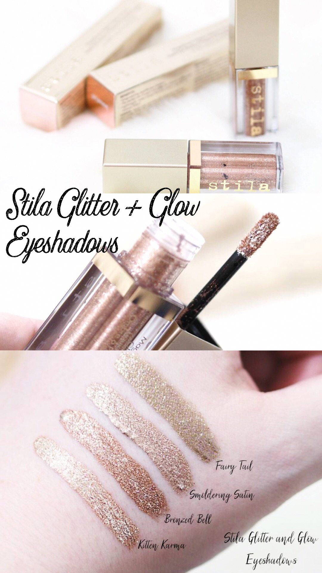 Stila Glitter And Glow Liquid Glitter Eyeshadows Ft Kitten Karma Fairy Tail Bronzed Bell An Stila Glitter And Glow Glitter Eyeshadow Stila Glitter Eyeshadow