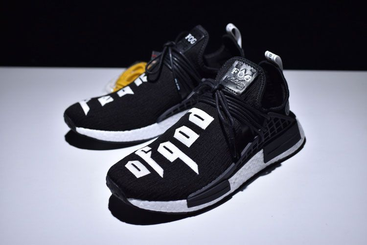 deb9f8686ce70 Fear of God x adidas nmd pharrell williams human race boost sneakers black