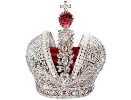 The Russian Imperial Crown. First used at the Coronation of Catherine the Great and last used at the coronation of Nicholas II.
