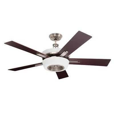 Emerson laclede eco 5 blade ceiling fan blades and light kit include brushed steel fans ceiling fans indoor ceiling fans