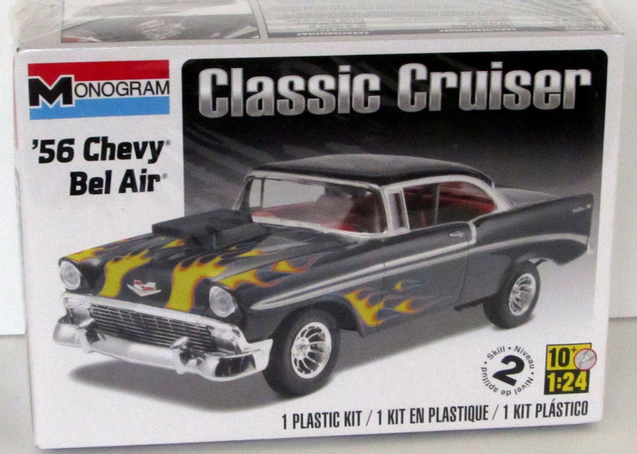 1956 chevy bel air revell monogram new model kit