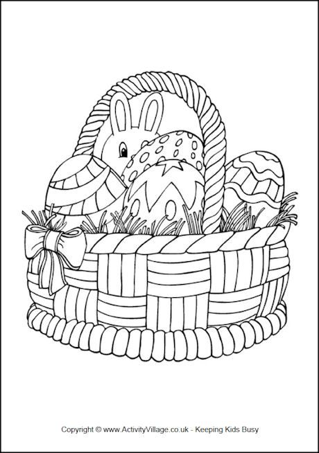 Easter Basket Colouring Page Easter Coloring Pages Easter Colouring Easter Embroidery