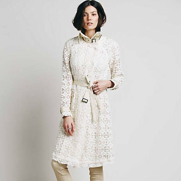 Lace Trench Coat Free People Nwt Clothes Design Fashion Dresses