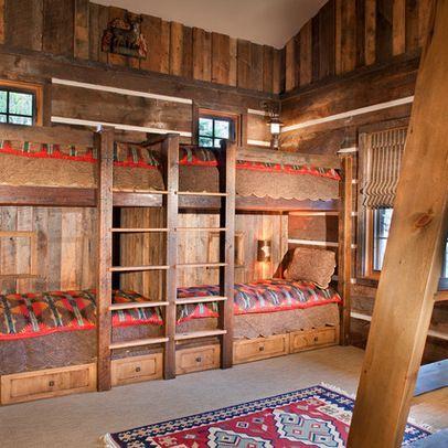 Barndominium Ideas Rustic Bunk House Design Ideas