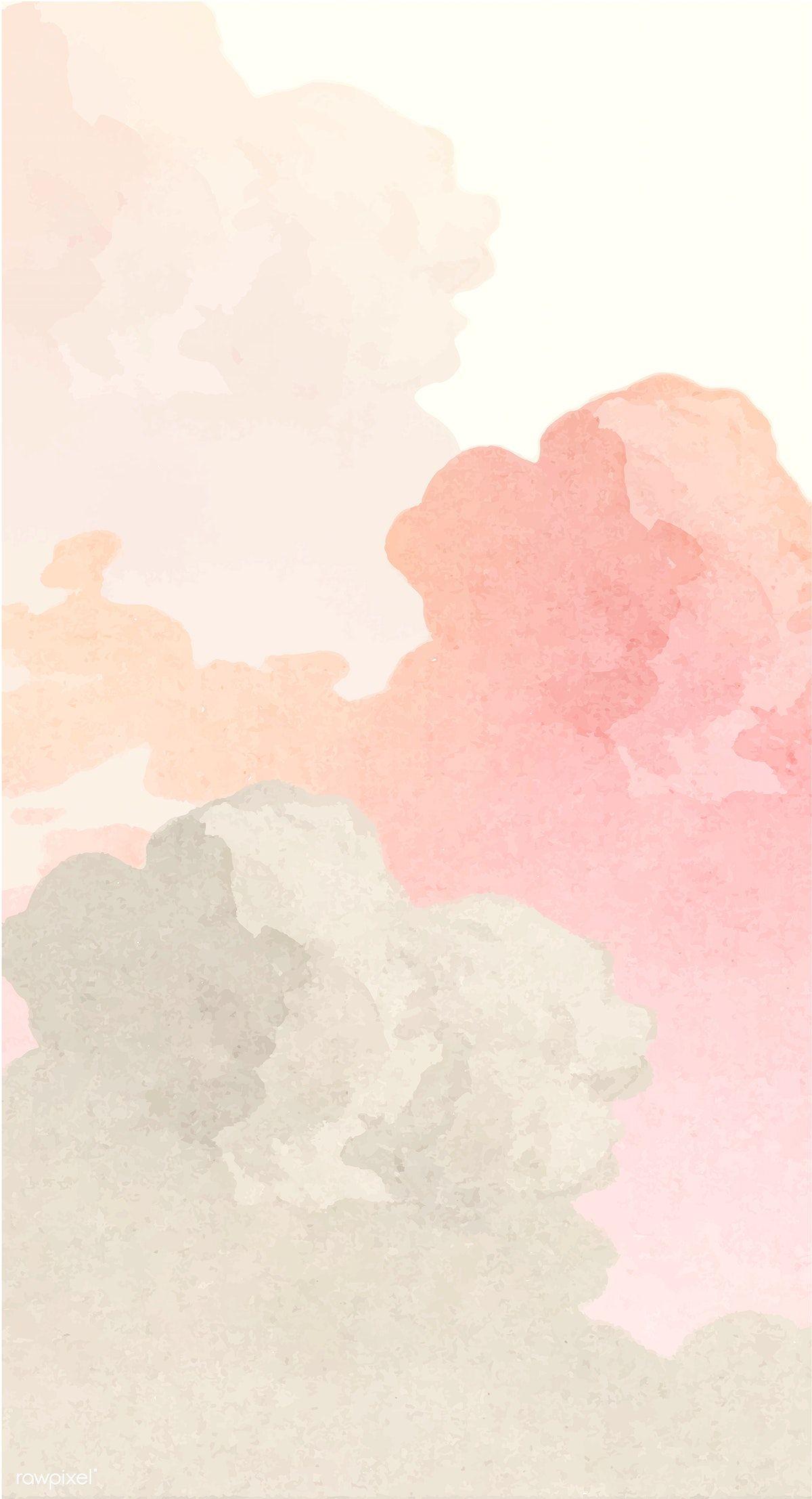 Download premium vector of Vintage cloud illustration vector 2203206
