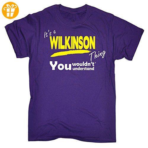 Its A Surname Thing  Jungen T-Shirt, Slogan Gr. Medium, Violett - Violett - Shirts mit spruch (*Partner-Link)