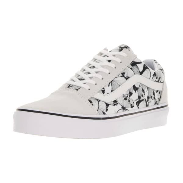 7f8f393f30 Vans Unisex Old Skool (Butterfly) True White Black Skate Shoe in ...