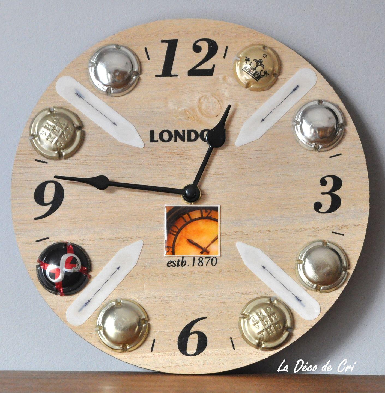 Horloge originale ambiance pub anglais : Décorations murales par la ...