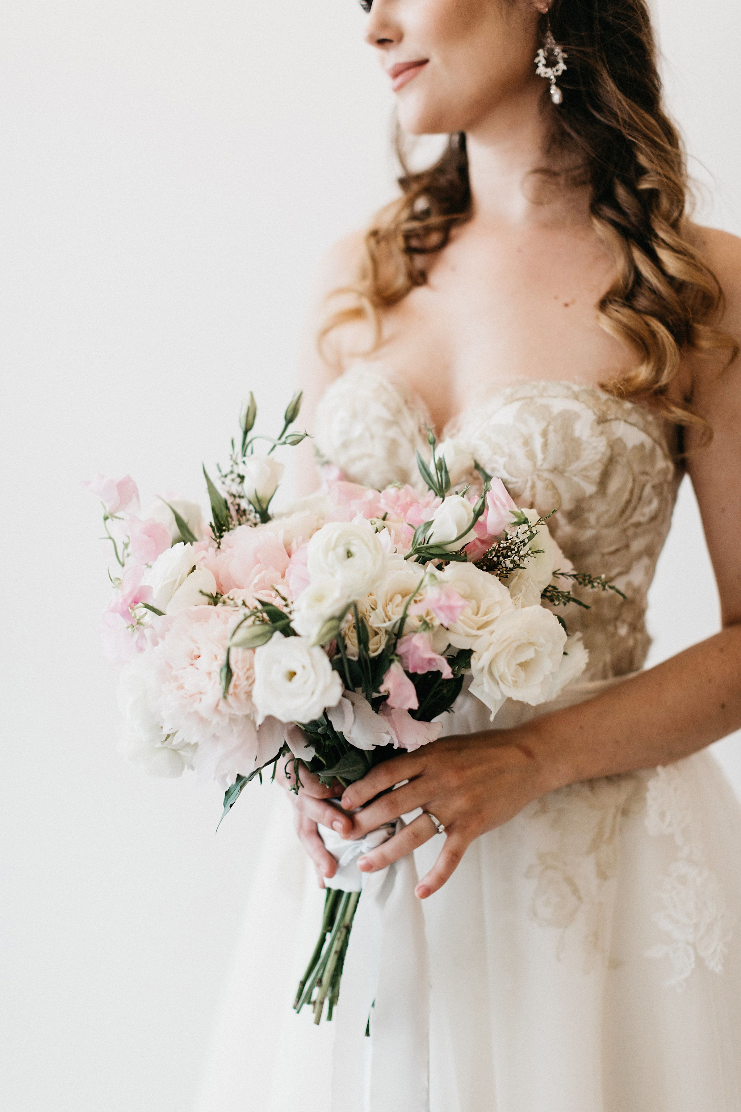 This Inspiration Is A Study In Classic Blush Colored Romance