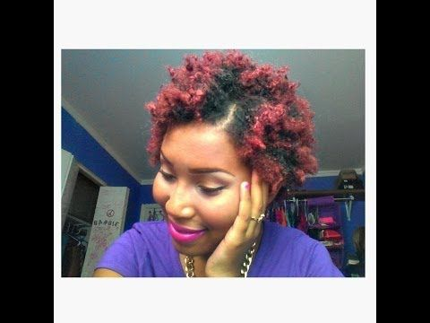 colored my Natural hair red burgundy without using