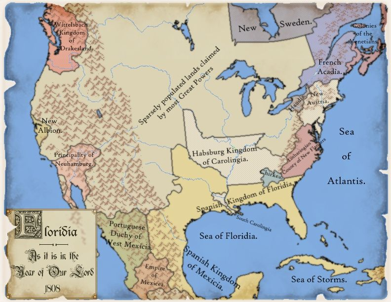 Best Fiction Maps Images On Pinterest Alternate History - 1808 map of the us