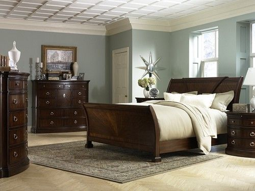 Dark Furniture Light Walls Neutral Bedding All It Needs It Some