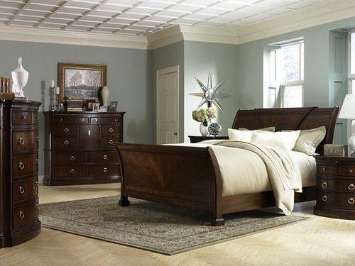 Master Bedroom APARTMENT Pinterest Dark furniture, Blue walls