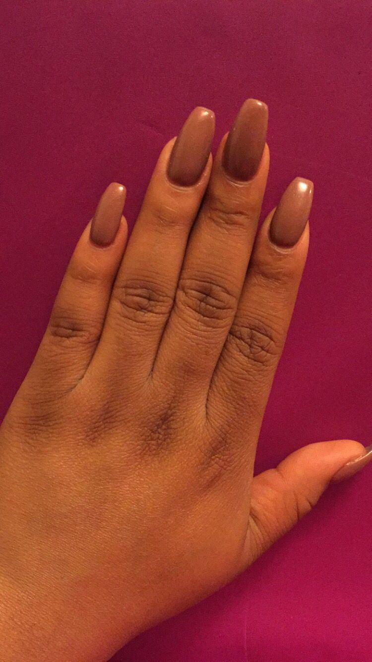 Coffee Colored Acrylic Nails Gel Polish Gel Nails Colored Acrylic Nails Nails