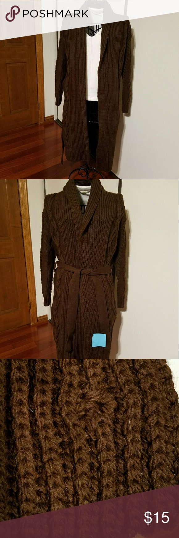 💙💙 Two for $10. Wool sweater coat, brown | Brand new, Ships and ...