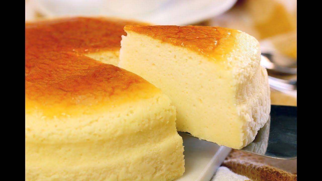 日式輕乳酪蛋糕 Soufflé Cheese Cake - YouTube | Food