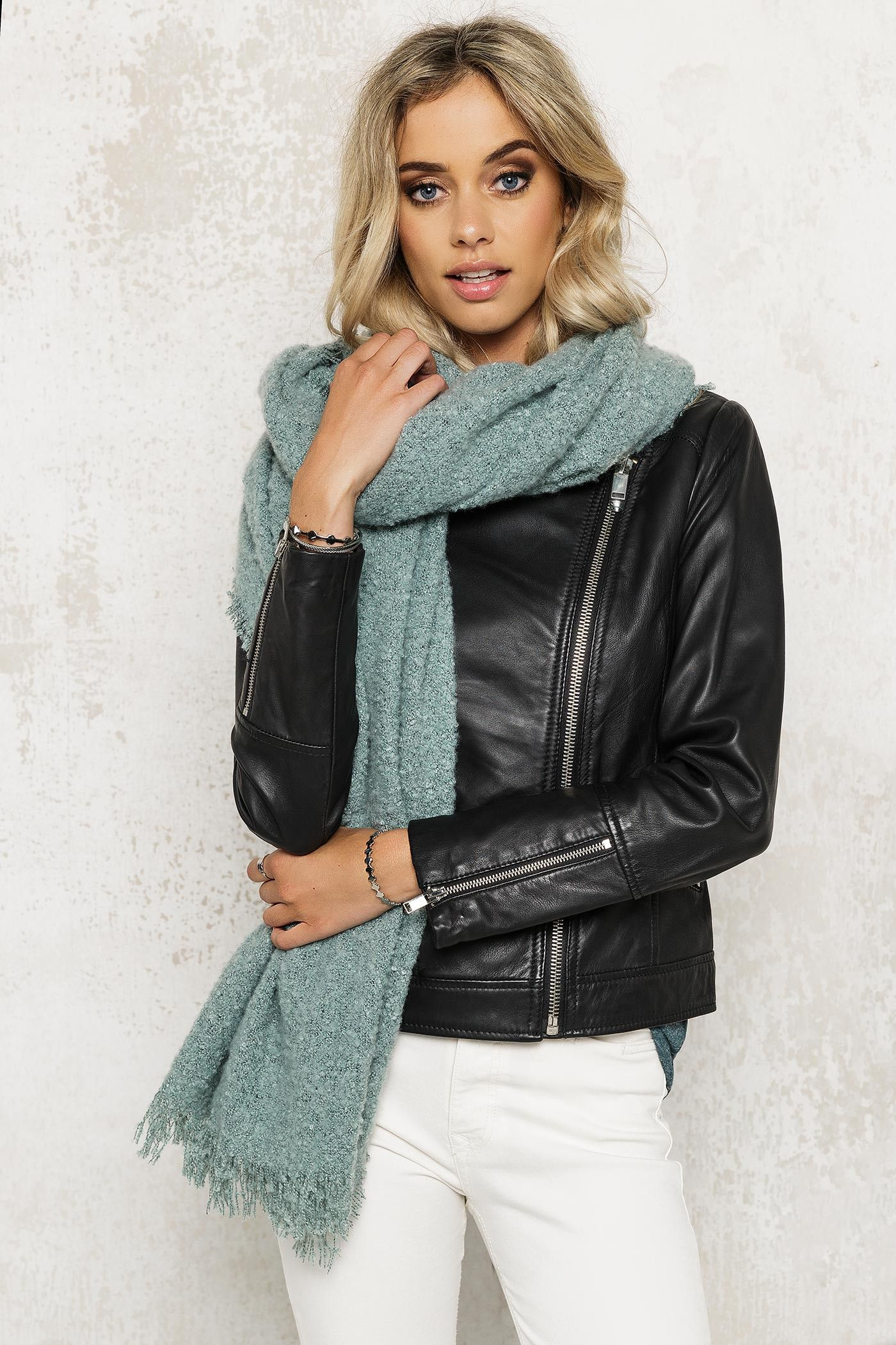Turquoise scarf by ICHI