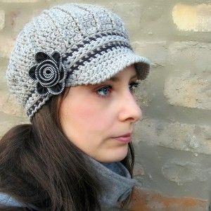 d95d321aebb Adult Newsboy Crochet Hat Pattern - Bing Images