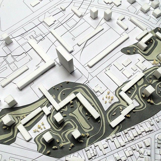 by @jessicagerard_ #model #projectofarchitecture #workinprogress #projetUrbain #juryInterne #présentation