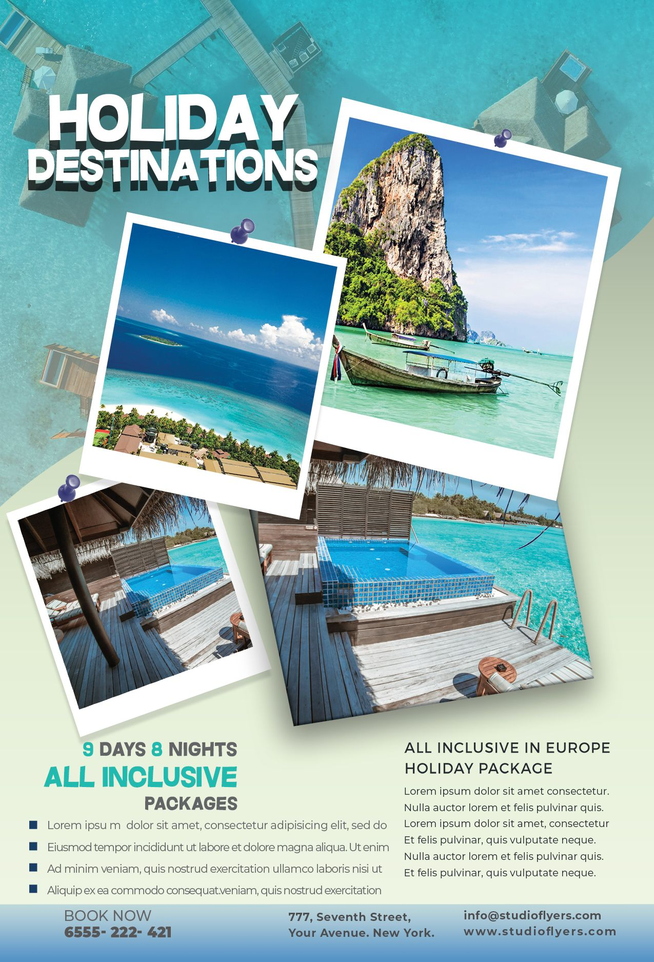 Holiday Vacation Free Psd Flyer Template Studioflyers Com Free Psd Flyer Templates Holiday Vacations Psd Flyer Templates