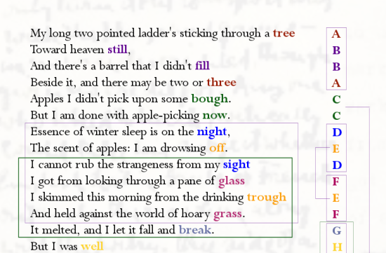 on robert frost's after apple-picking | my personal legend