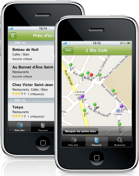 "iPhone App ""MondeCafes"" or ""CafesWorld"""