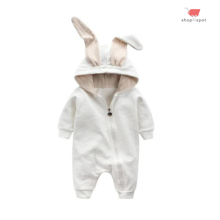 Feing Boys Girls Outfits Easter Baby Cute Bunny Bodysuit with Big Ears Casual Jumpsuit