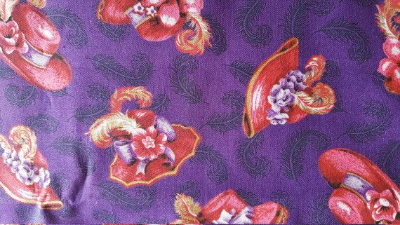 Red Hat Society Theme Feathered Red Hats Fabric Out By Fabricatti