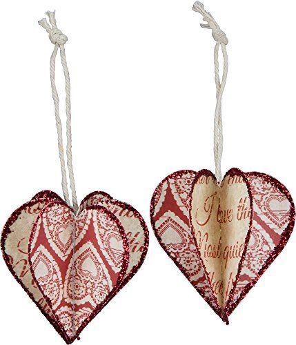 Primitives By Kathy - 3d Heart Ornament - Valentine