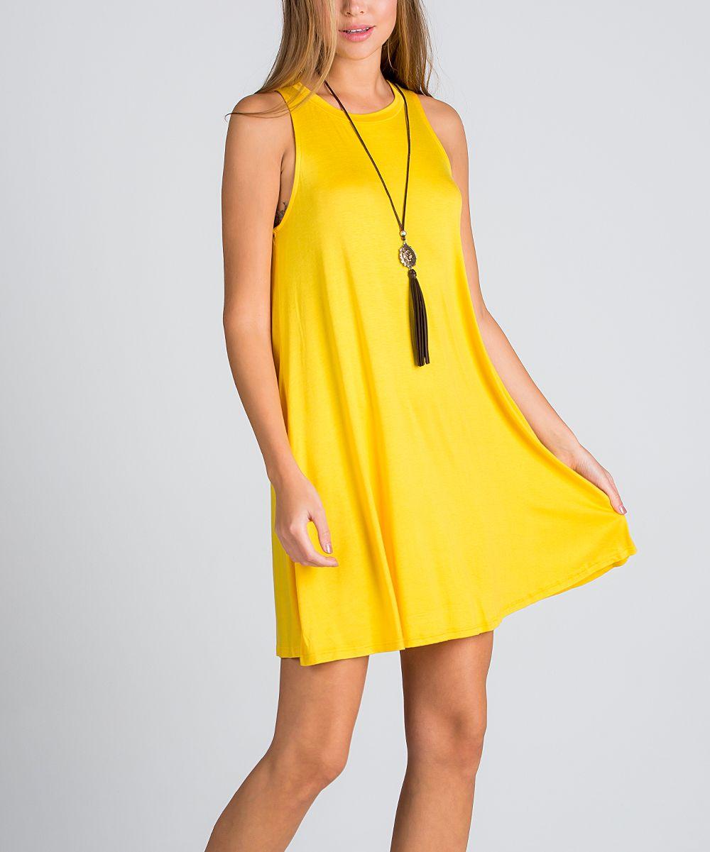 0c9cf0cb196a Yellow Sleeveless Shift Dress | Products | Dresses, Fashion e Yellow