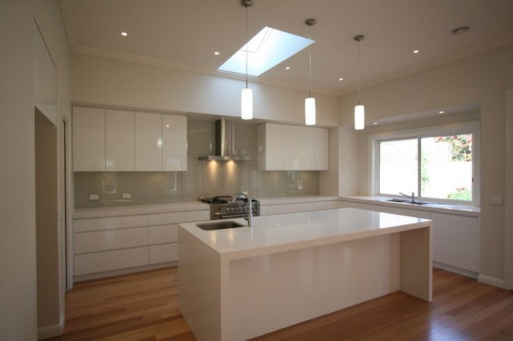 White Kitchen Grey Splashback white cupboards with greyish splashback - beige royal (dulux) on