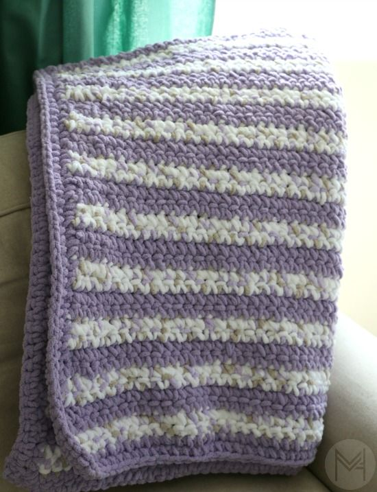Beginner CrochetBaby Blanket with Border Tutorial | | crafts | Pinterest