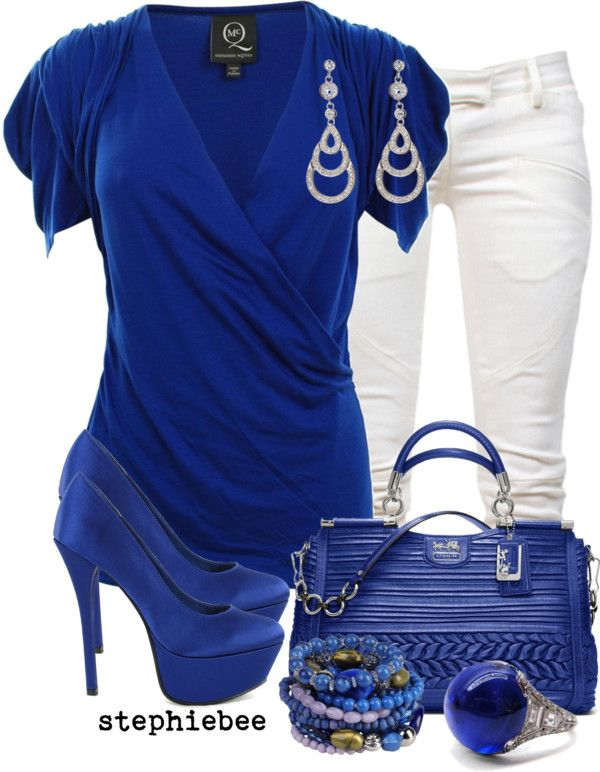 """Royal Blue"" by stephiebees on Polyvore"