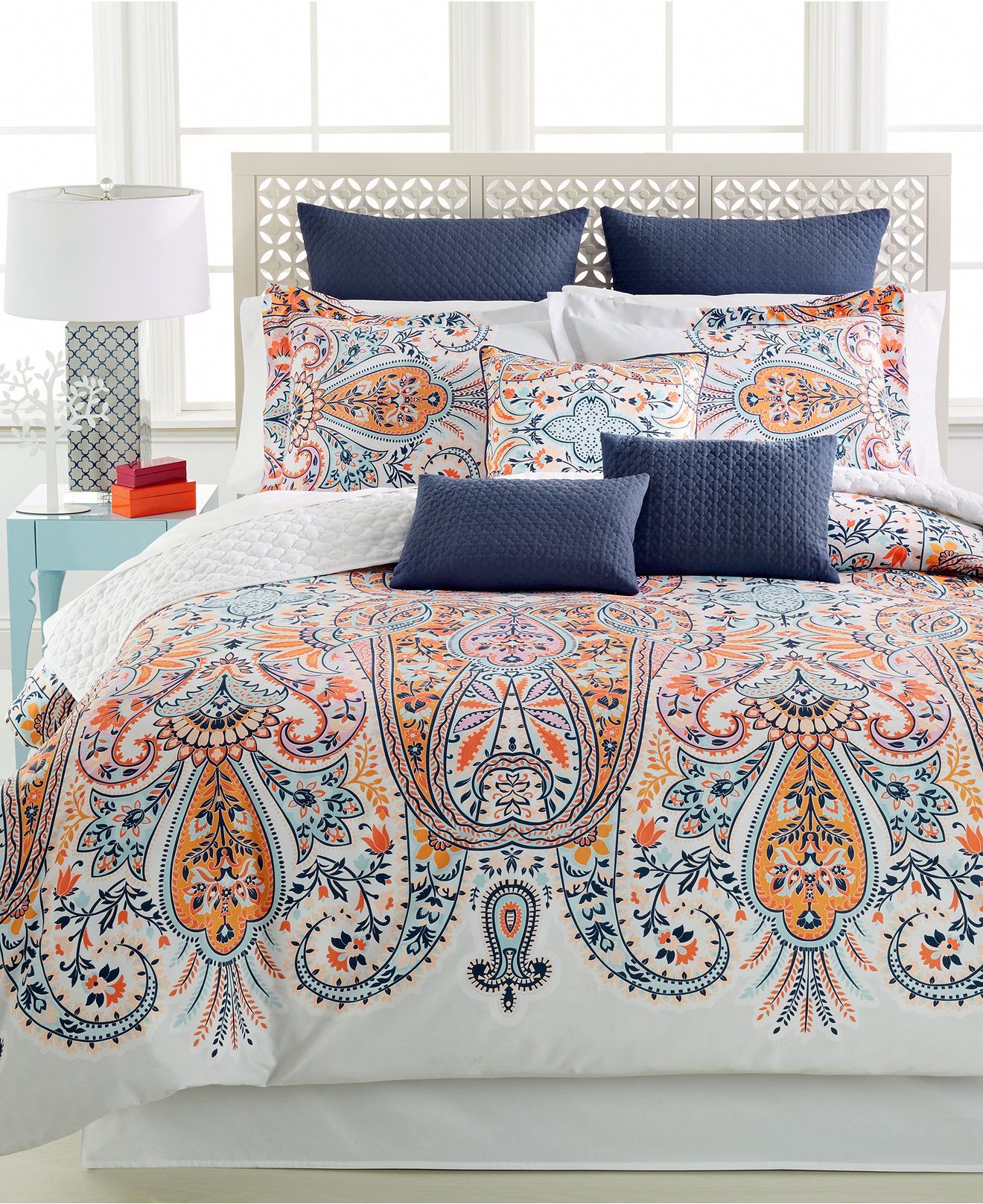 taylia reversible 10-pc. comforter set - bed in a bag - bed & bath
