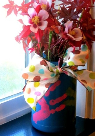 Mothers Day Handprint Vase Diy Pinterest Gift Craft And